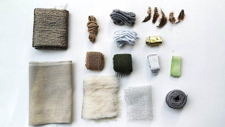 Materialien zum Huehner naehen