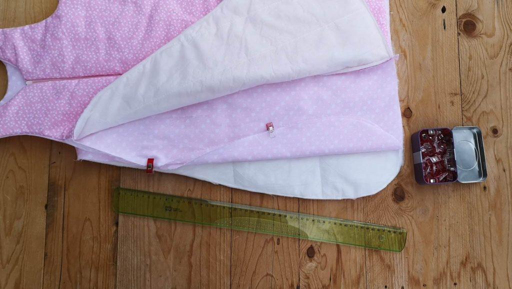 einfachen Babyschlafsack nähen